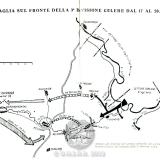 """Схема боевых действий дивизии """"Celere"""" 17-20 декабря 1942г."""