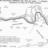 Схема боевых действий с 20.08.1942 по 01.09.1942 в районе Осетровки