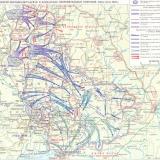 Карта боевых действий в июне-июле 1942 г.
