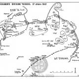 """Схема расположения дивизии """"Pasubio"""" 27 октября 1942г."""