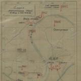 Схема расположения частей 4 гв ск 13.12.1942